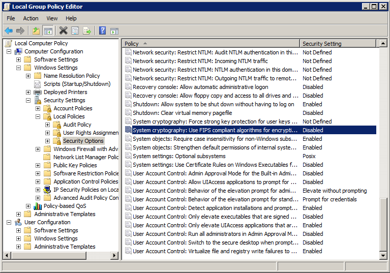 group policy setup
